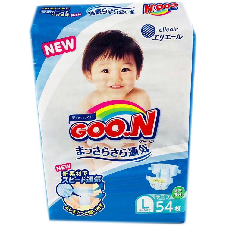 【日本境內GOO.N】大王一般版黏貼NB/S/M/L/XL 4包x2箱