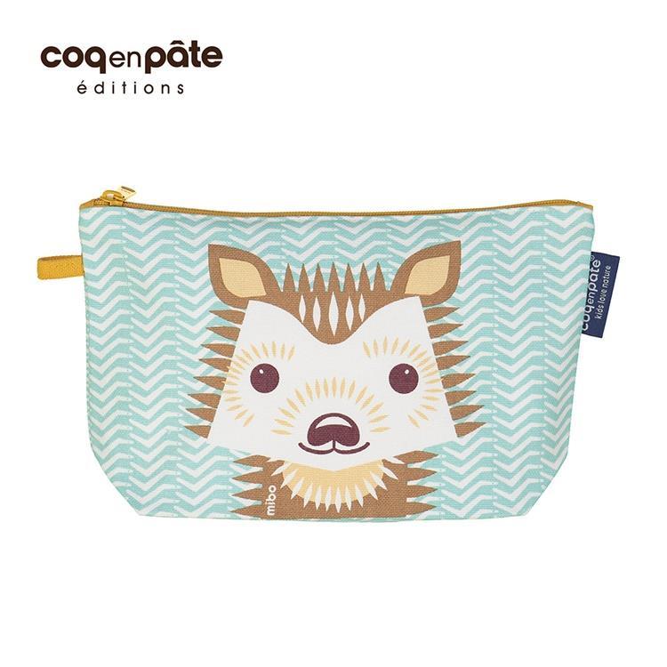 【COQENPATE】法國有機棉無毒環保化妝包 / 筆袋- 畫筆兒的家 - 刺蝟