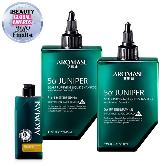 AROMASE艾瑪絲  捷利爾頭皮淨化液2入+去屑止癢洗髮組