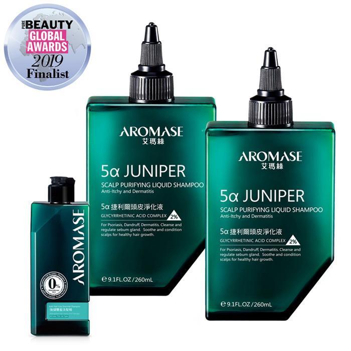 AROMASE艾瑪絲  捷利爾頭皮淨化液2入+強健豐盈洗髮組