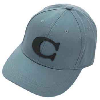 COACH 時尚休閒造型鴨舌帽/ 棒球帽-灰藍 (現貨+預購)