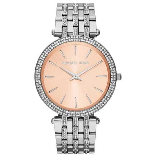 MICHAEL KORS 耀眼星鑽腕錶-銀色
