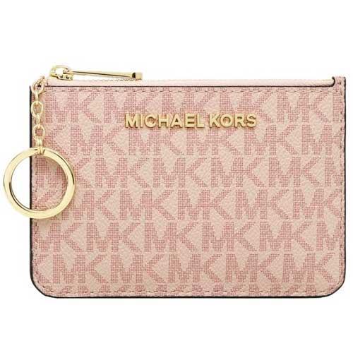 MICHAEL KORS 防刮logo卡夾零錢包-粉紅(現貨+預購)