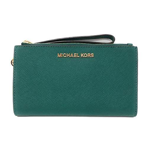 MICHAEL KORS 防刮皮革雙層手機長夾-綠色