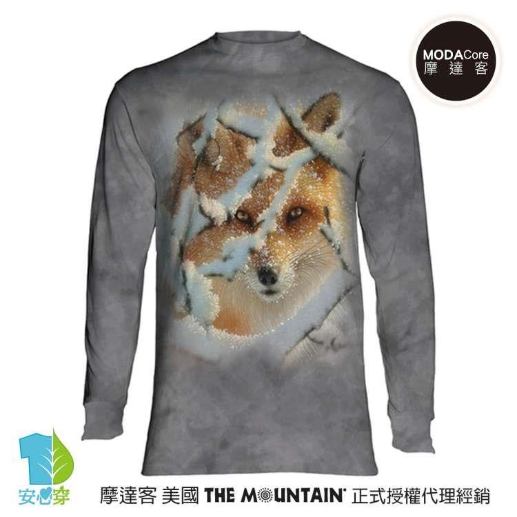 【摩達客】(預購)美國進口The Mountain 狼迷藏  純棉長袖T恤