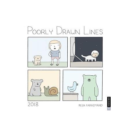 Poorly Drawn Lines 2018 Calend(Wall)