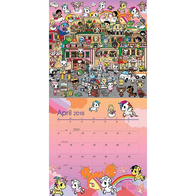 Tokidoki 2018 Calendar(Wall)