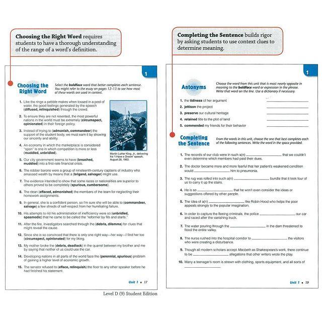 Sadlier Vocabulary Workshop Level A: Student Edition
