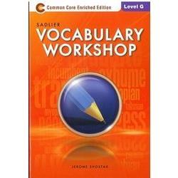 Sadlier Vocabulary Workshop Level G: Student Edition