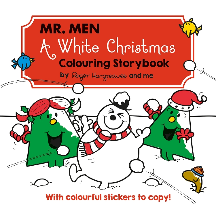 Mr Men A White Christmas Colouring Storybook