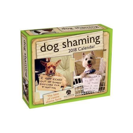 Dog Shaming 2018 Calendar
