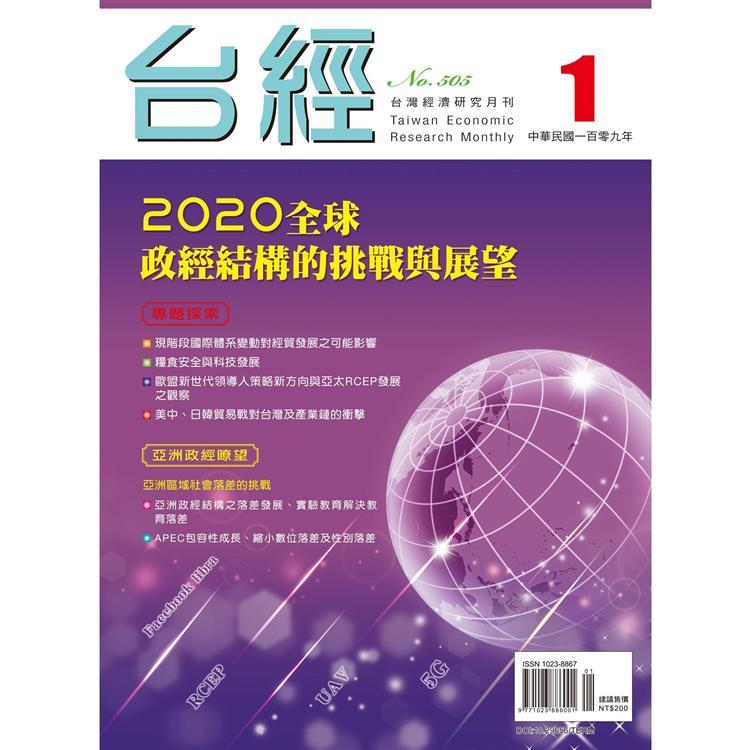 台灣經濟研究月刊2020.01