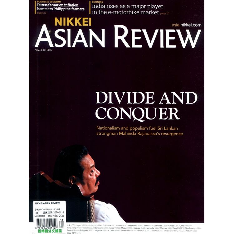 NIKKEI ASIAN REVIEW 第301期 11月4-10日_2019