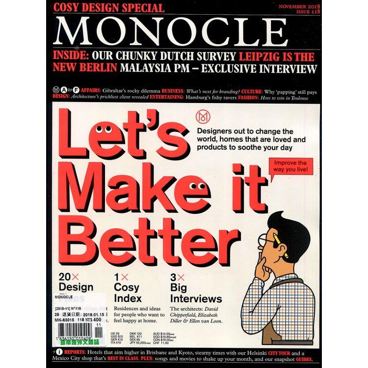 MONOCLE 第118期 11月號 2018