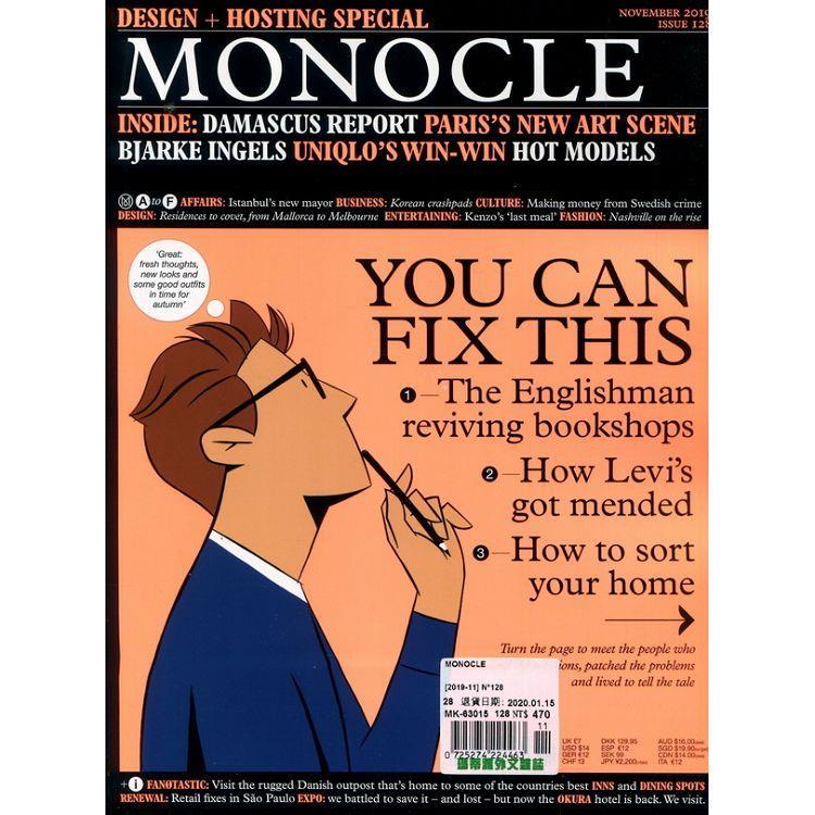 MONOCLE 第128期 11月號_2019