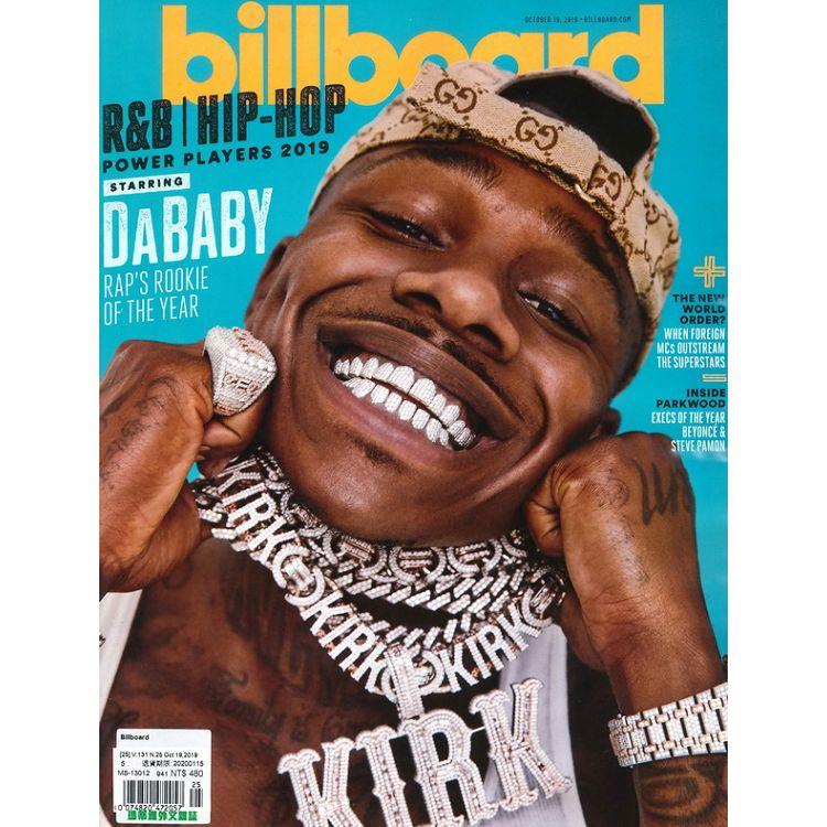 Billboard 10月19日_2019
