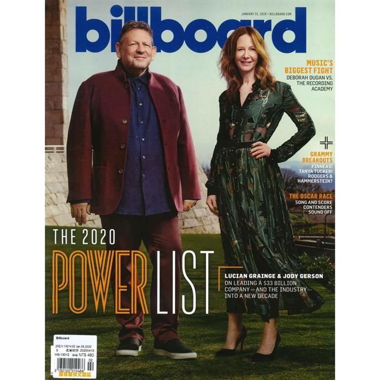 Billboard 1月25日_2020