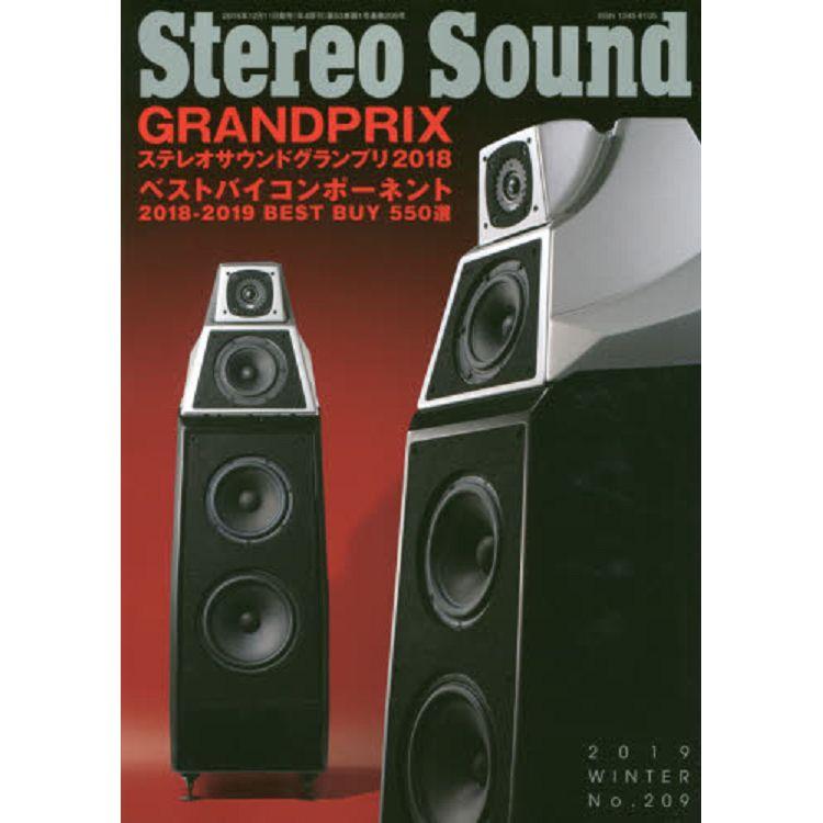 Stereo Sound Vol.209(2019年冬季號)