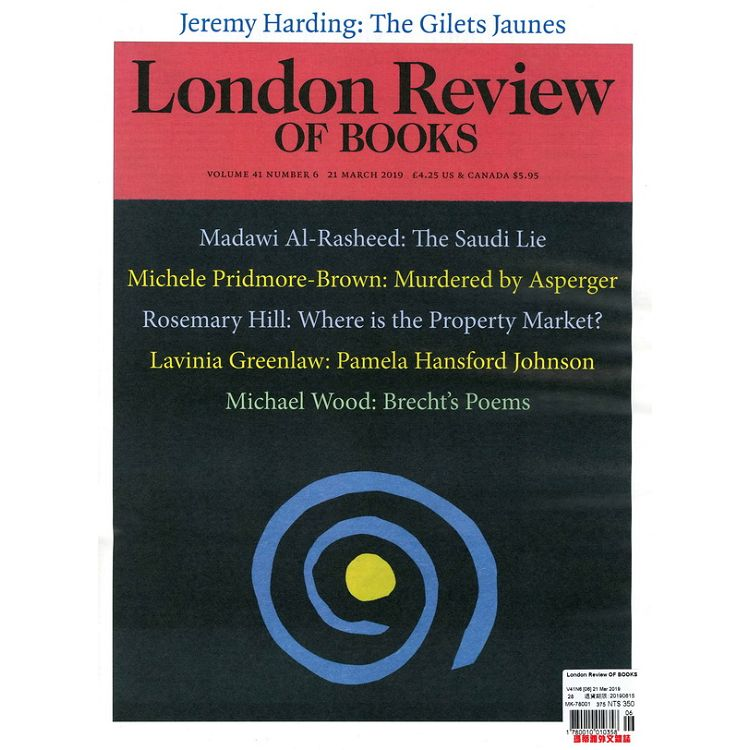 London Review OF BOOKS Vol.41 No.6 3月21日2019