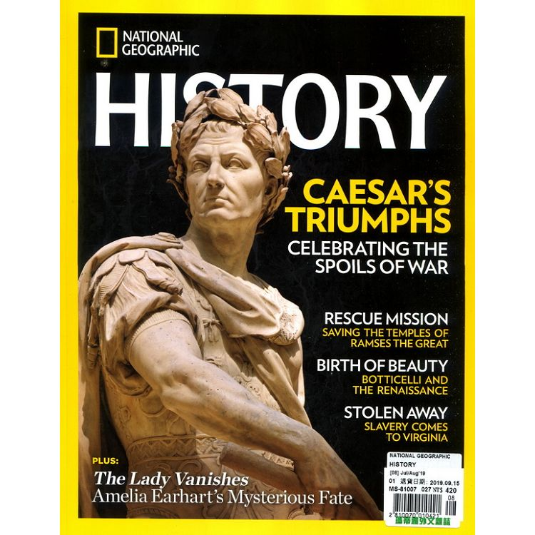NATIONAL GEOGRAPHIC HISTORY 7-8月號_2019