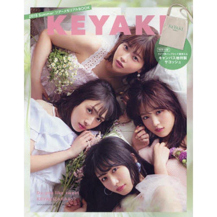 櫸46 KEYAKI 2018年夏季巡迴演唱會紀念暨流行時尚情報附帆布側背包