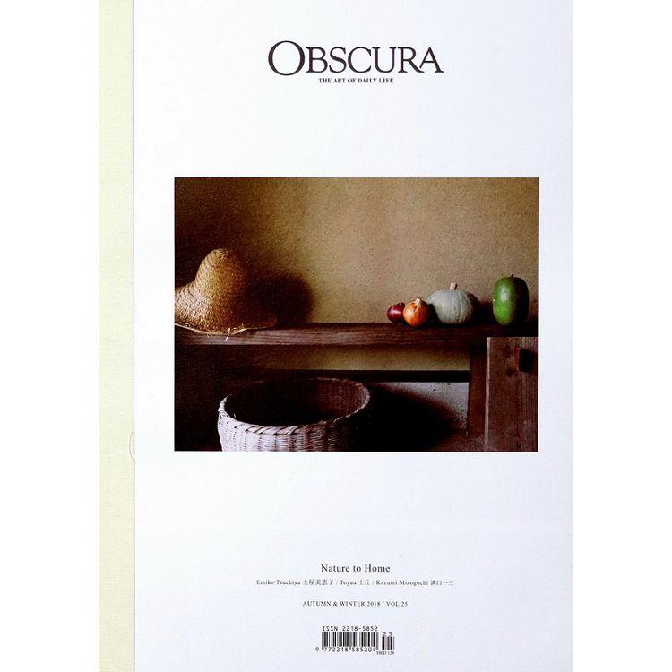 OBSCURA Vol.25 秋冬號 2018