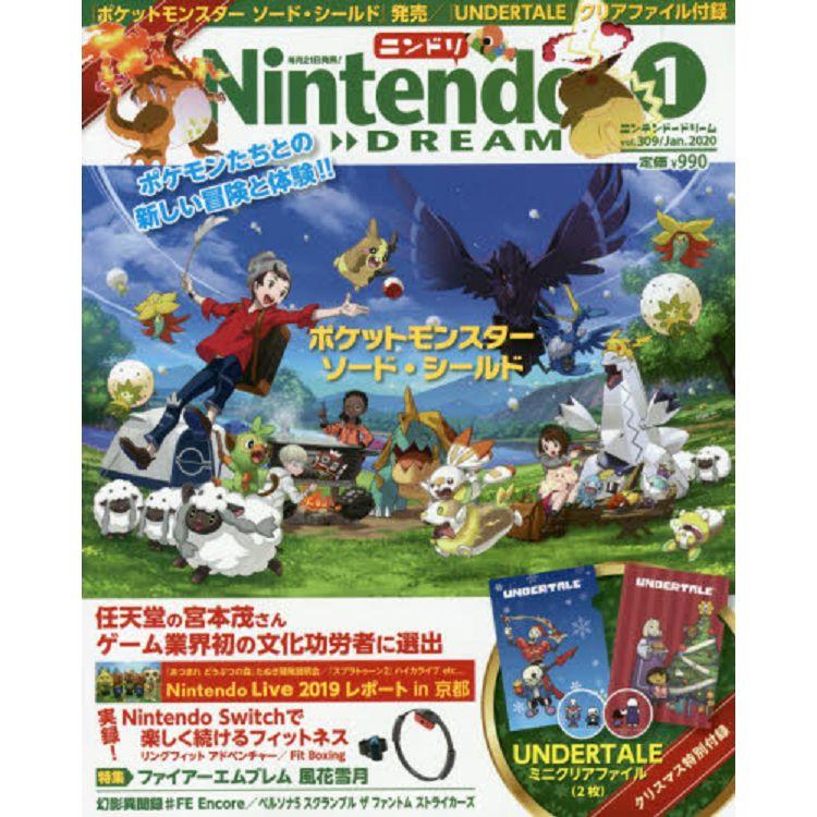 Nintendo DREAM 1月號2020附Undertale迷你資料夾兩入