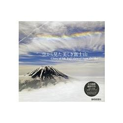 從空中鳥瞰美麗富士山
