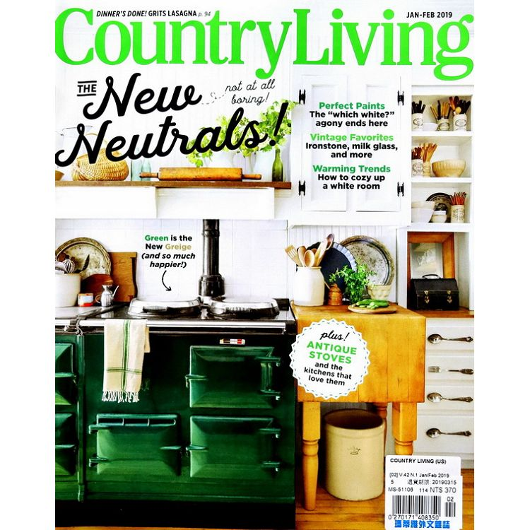 COUNTRY LIVING (US) 1-2月號 2019