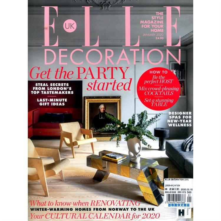 ELLE DECORATION (UK) 第329期 1月號_2020