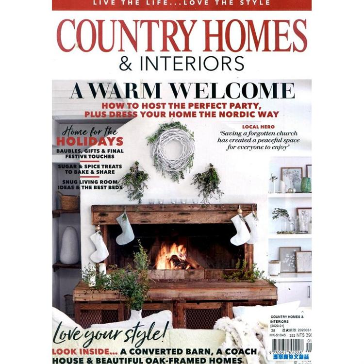 COUNTRY HOMES & INTERIORS 1月號_2020