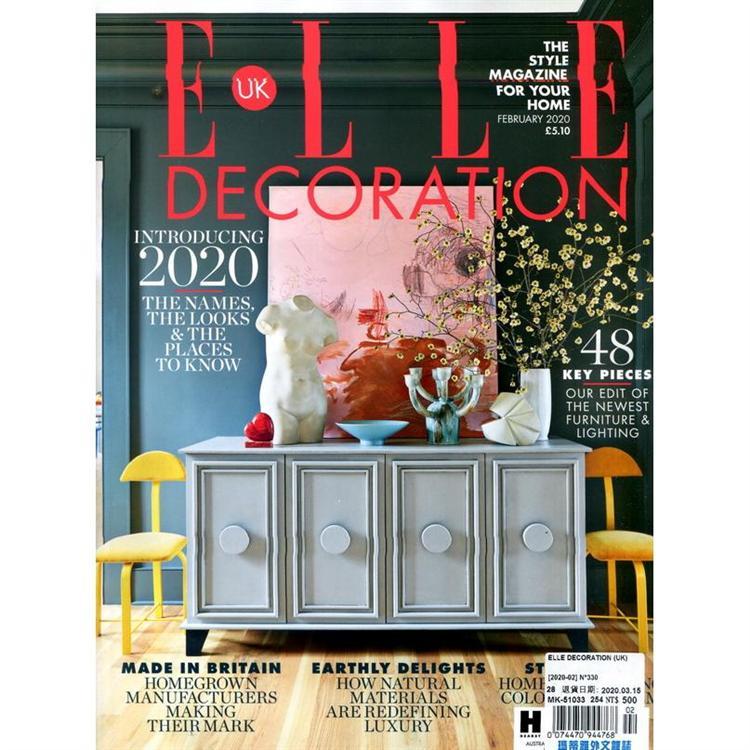 ELLE DECORATION (UK) 第330期  2月號_2020