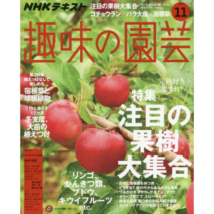 NHK 教科書   趣味的園藝 11月號2018