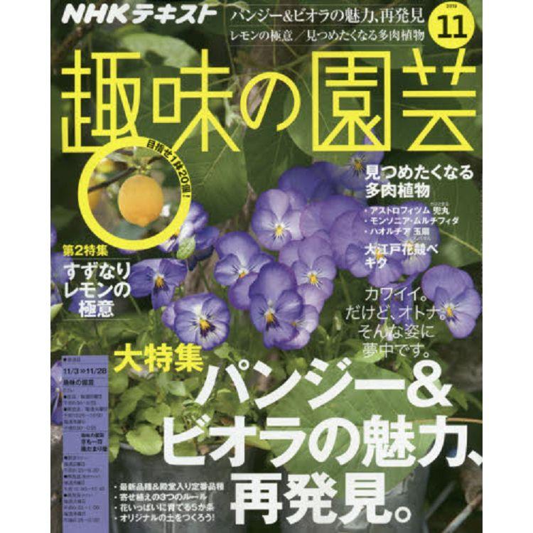 NHK 教科書   趣味的園藝 11月號2019