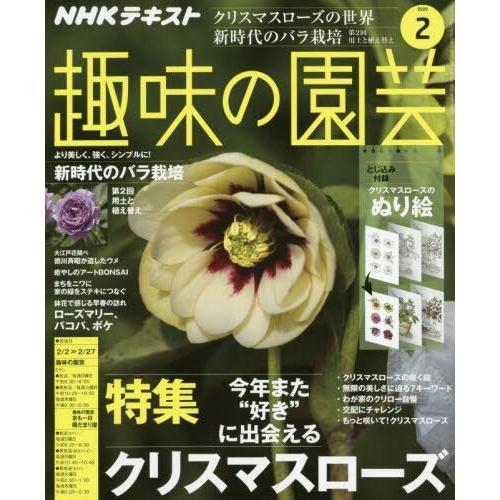 NHK 教科書 趣味的園藝 2月號2020附花卉著色畫