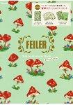 FEILER 70週年品牌MOOK 限定版附香菇圖案記事本.信紙組.資料夾兩款