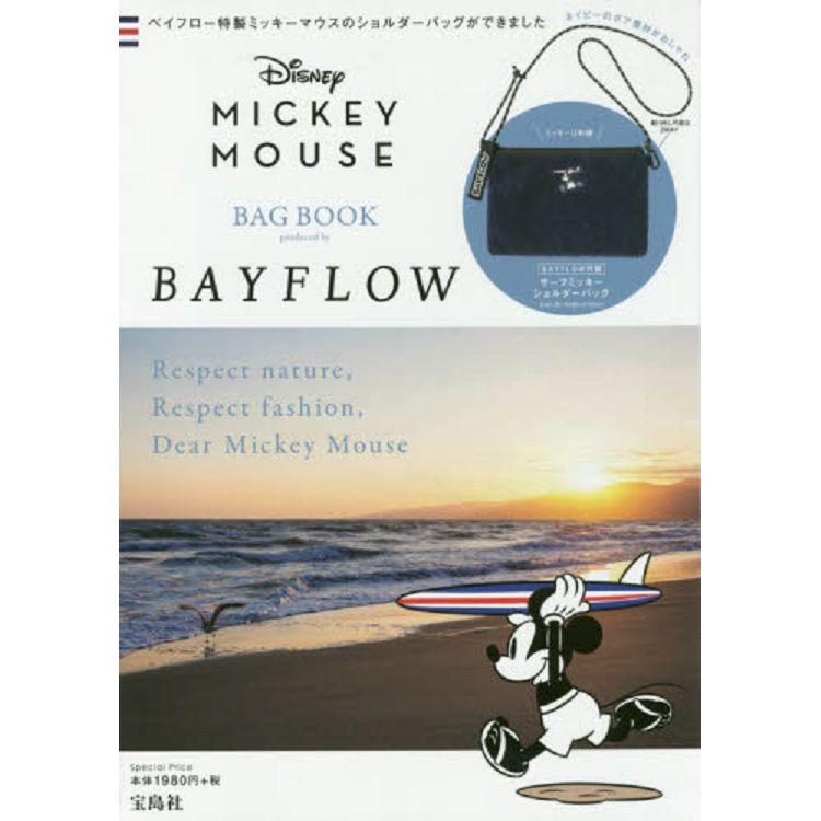 迪士尼米奇×BAYFLOW 品牌聯名肩背包特刊附米奇刺繡海軍藍羊羔絨肩背包