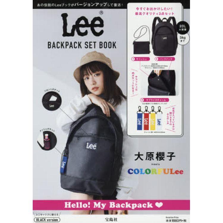 Lee 品牌後背包特刊 黑色版附黑色LOGO後背包.側背包.LOGO吊飾4款隨機出貨