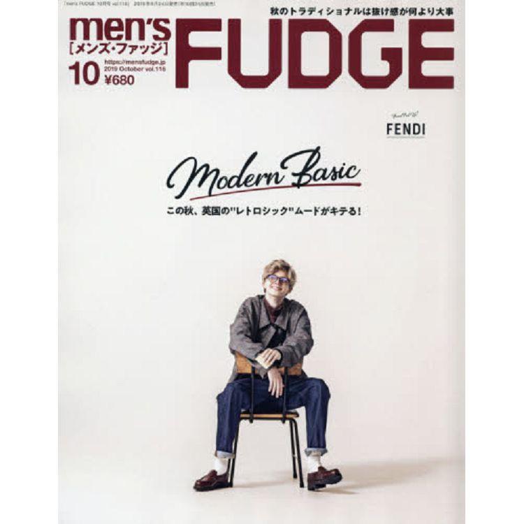 mens FUDGE 10月號2019