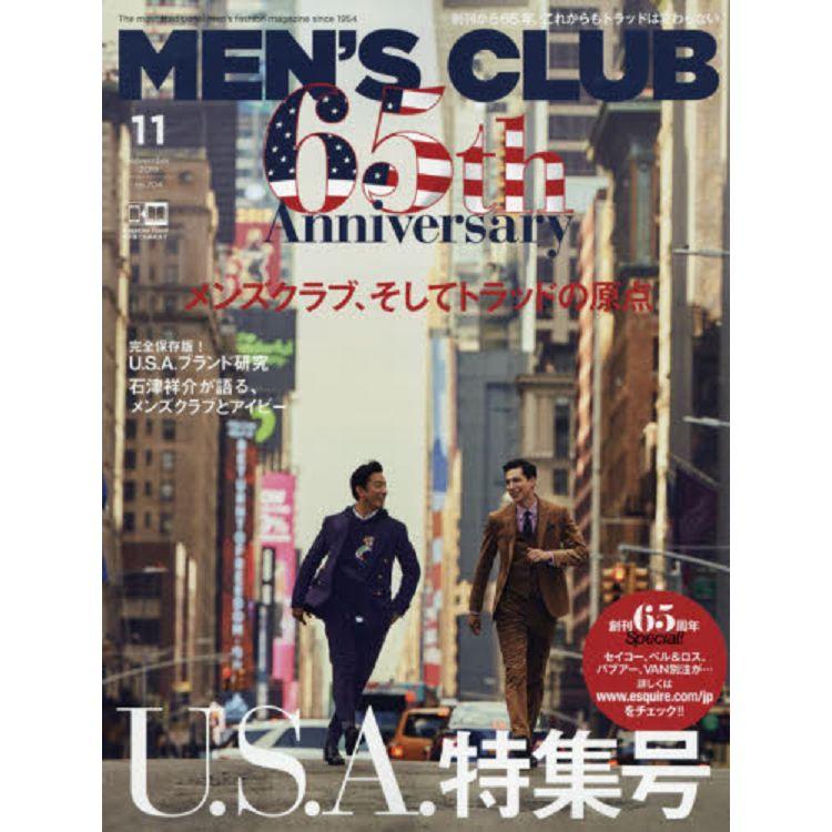 MEN`S CLUB 11月號2019