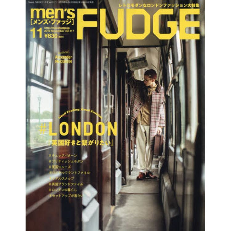 men`s FUDGE 11月號2019