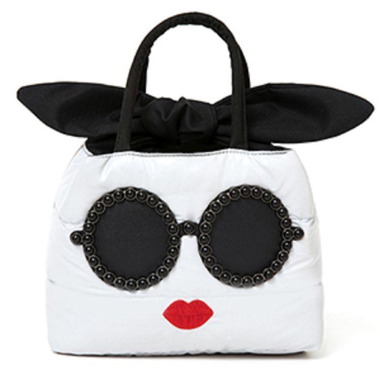 a-jolie太陽眼鏡女孩 品牌MOOK附灰色羽絨棉手提包